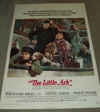 "ORIGINAL MOVIE THEATRE ADVERTISING POSTER FOR THE 1972 FILM, ""THE LITTLE ARK"""