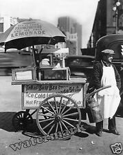 Historical Photograph of New York Hot Dog Cart / Stand Year 1936  8x10