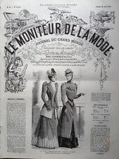 LE MONITEUR DE LA MODE 1891 N 34 TOILETTES DE VILLE. DESSIN DE J. PAUQUET