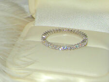 925 Silver 1 row Full Eternity Ring,wedding engagement ring,Thin Stacking ring