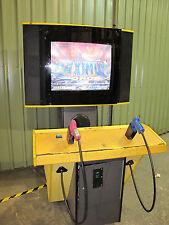 """Atari Maximum Force Arcade Game 38"""" Screen - Game Works 100% - Guns Needs Repair"""