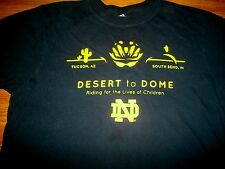 Notre Dame Desert To Dome Ara Parseghian Foundation & ND Science T-Shirt Sm New