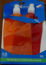 BRAND NEW IN PACKAGE X Gear Reusable Hydration Packs, BPA FREE,  TWO BOTTLES