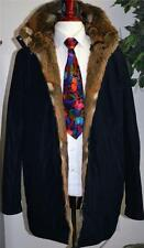 ULTRA-RARE! Gucci Italy Black Reversible Hooded Winter European Fur Coat 48/XXL