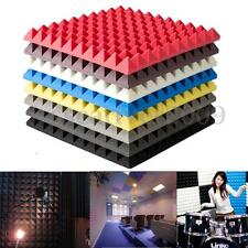 Acoustic Soundproof Sound Stop Absorption Pyramid Studio Foam Board 500x500x55mm