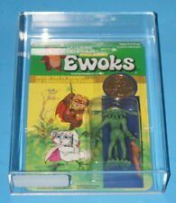 STAR WARS KENNER EWOKS DULOK SCOUT ERROR CARD AFA 80 CLEAR BUBBLE UNPUNCHED