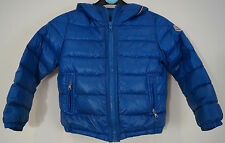 MONCLER Boys Royal Blue Sheen Down & Feather Quilted Puffa Winter Jacket Sz:3Y