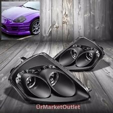 Black Housing Dual Halo Projector+DRL Headlight For Mitsubishi 00-05 Eclipse