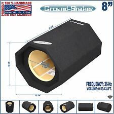 "8"" SINGLE VENTED SLOT PORTED SUB BOX 36Hz BASS TUBE SUBWOOFER GROUND-SHAKER"