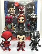 Hot Toys Civil War Iron man  Team Cosbaby 6pcs set ( spiderman tony widow vision