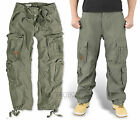 SURPLUS AIRBORNE TROUSERS OLIVE GREEN RAW VINTAGE CARGO COMBAT PANTS ARMY URBAN