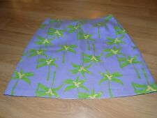 Girl's Size 14 Kelly's Kids Purple Green Palm Tree Print Skirt NWOT New