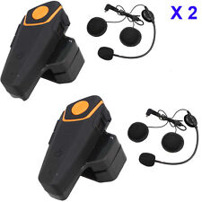 2pcs BT-S2 Bluetooth Motorcycle Helmet Intercom Headset MP3 Microphone FM Radio