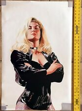 ALEX ROSS SIGNED AUTOGRAPHED 22x34 BLACK CANARY ORIGINAL POSTER RARE PSA/DNA