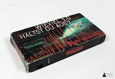 ★ Nintendo PROMO Sammel VIDEO VHS - N64 WIEVIEL 3-D HÄLTST DU AUS ? ★