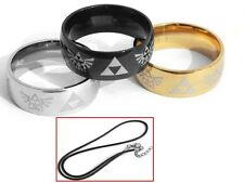 Zelda Legend of Zelda Link 3 Bague Ring Necklace Pendentif Halskette Collier