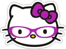 "Hello Kitty (Nerd / Glasses) Sticker - 3.5"" x 4.75"""