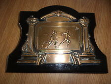 Vintage running trophy / sporting plaque runners