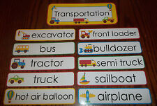 Transportation  Word Wall Weekly Theme Posters.  Daycare accessories.