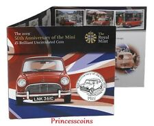 ROYAL MINT 2009*UNC*ALDERNEY 50TH ANNIVERSARY OF MINI COOPER £5 KM#85