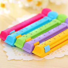 5Pcs Durable Creative Homes Travel Snack Food Plastic Bag Clip With Date Mark