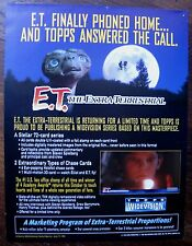 E.T. The Extra-Terrestrial Topps Widevision Trading Cards Sell Sheet (no cards)