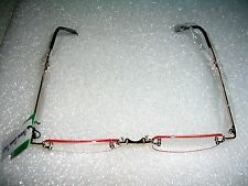 2 PAIR OF FOLDING READING GLASSES RIMLESS 1.50 LINE RIMMED WITH  GOLD FRAME