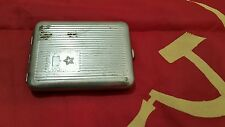 VINTAGE CIGARETTE CASE TIN METAL BOX TABACO  MOSKVA MOSKOW SOVIET COMMUNIST ERA