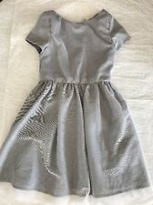 New H&M Silver Gray Sparkle Tutu Dress Girls size 7-8 Summer Spring Easter