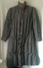 Vtg Woolrich Womens Coat Puffer Gray Long Down Filled Puffer Long Medium Winter
