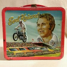 Evel Knievel Metal Lunch Box with No Thermos 1974 Aladden Industries Rare