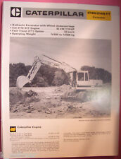 ✪altes original Prospekt INFO Sales Brochure CAT Caterpillar 214B & FT Excavator