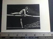 1930s Woodcut nude male figure print by Rockwell Kent