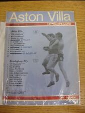 18/10/1969 Aston Villa v Birmingham City  (Creased, Folded, Worn, Small Rips, Wr