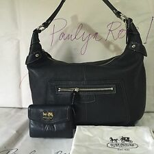Coach Penelope Pebbled Leather Large Hobo F14681 & Coach Horse & Carriage Wallet