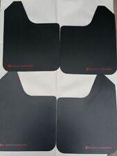 RALLY ARMOR BASIC UNIVERSAL MUD FLAPS BLACK W/RED LOGO MF12-BAS-RD No Hardware