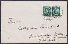 DR ZD K 17 Kehrdruck MeF auf Brief, gel. Essen - Gelsenkirchen 1934, Dt. Reich