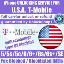 Factory unlock service USA T-Mobile iPhone SE 6s 6 6+ plus 5s 5c Premium Blocked