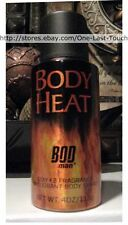 "BOD MAN ""Sexy x 2"" BODY HEAT Deodorant Body Spray 4 oz Can PARFUMS DE COEUR New!"