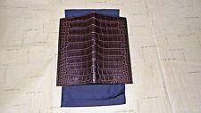 NEW! Ralph Lauren Brown Genuine Alligator Crocodile Billfold Card Wallet Polo