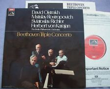 ASD 3053 BEETHOVEN TRIPLE Oistrakh Rostropovich Richter NEAR MINT UK EMI HMV