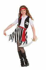 GIRL'S BUCCANEER PIRATE HALLOWEEN COSTUME CHILD SIZE LARGE