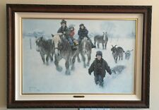 """Robert Duncan """"Playing with Giants"""" Canvas Giclee Painting Artist Hand Signed"""