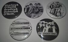 5 Undertones button Badges punk UK Subs Cockney Rejects Sex Pistols The Clash