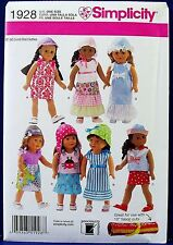 """Simplicity 18"""" Doll Clothes Sewing Pattern American Girl Dress Top Skirt 1928"""