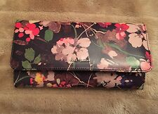 New Paul Smith Women's Wallet Floral Purse Cardholder Trifold RRP £200