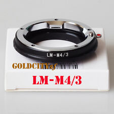 Leica M LM Lens To Olympus Micro 4/3 M4/3 Adapter GF3 GH3 EPL3 EPL1 E-PL5 E-PM2