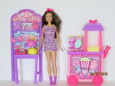 Barbie Playset Sisters Popcorn Souvenirs Carnival Popcorn Cart Prizes Candy