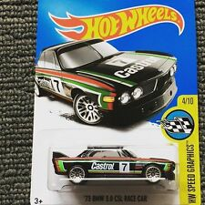 HOTWHEELS 4/10 73 BMW 3.0 CSL RACE CAR NO 7 CASTROL 57/365 HW SPEED GRAPHICS
