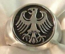 ANELLO SIGILLO AQUILA GERMANICA ARGENTO 925 STERLING SILVER GERMAN EAGLE RING